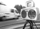 Messgerät für Geschwindigkeitsmessung im Verkehr